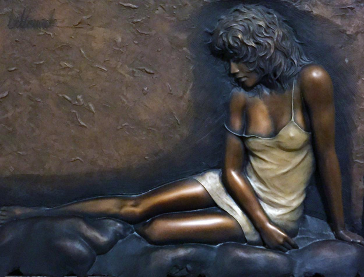 Desiree Bonded Bronze Sculpture 2004 29x39 Sculpture by Bill Mack