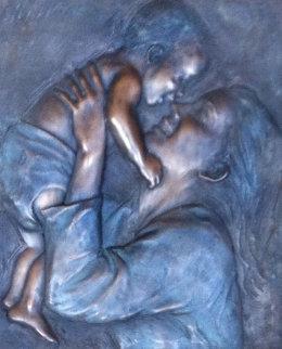 Joy Bronze Bonded Sculpture 2004 25x19 Sculpture by Bill Mack