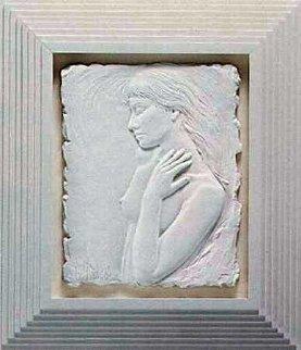 Repose Porcelain Sculpture 1987 16x13 Sculpture - Bill Mack