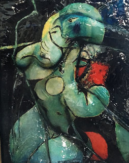 Picasso's Spirit of a Woman in Armchair Sculpture 2008 37x42 Original Painting - Bill Mack