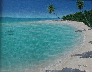 Paradise Cove 1999 26x30 Original Painting - Dan Mackin