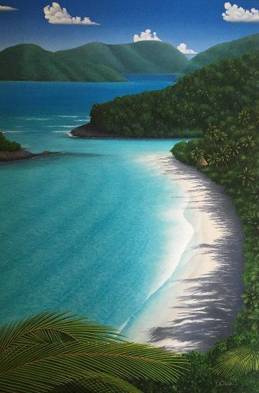Dancing on the Beach 1991 68x48 Original Painting by Dan Mackin