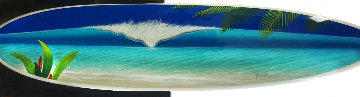 Artistry Du Rhythm Acrylic Painting on Surfboard 2007 21x80 Original Painting - Dan Mackin