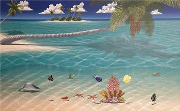 Other Side of Paradise 2002 60x96 Huge  Original Painting - Dan Mackin