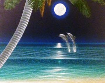 Moonstruck 2000 34x40 Original Painting - Dan Mackin