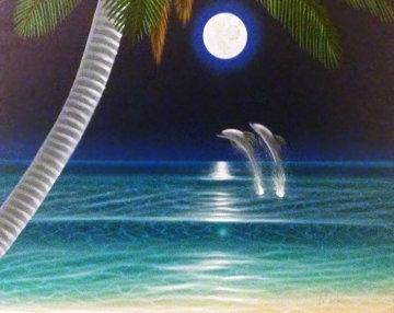 Moonstruck 2000 34x40 Original Painting by Dan Mackin