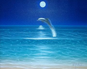 Moonie 2001 29x26 Original Painting by Dan Mackin