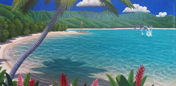 Welcome to Paradise 1999 20x39 Original Painting by Dan Mackin