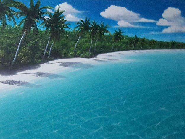 Virgin Beach 1999 54x43 Original Painting by Dan Mackin