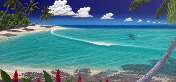 Paradise Bay 2001 50x30 Huge Original Painting - Dan Mackin