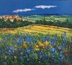 Tuscan Village  2000 27x30 Original Painting -  Madjid