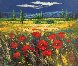 Tuscan Countryside With Poppies 2000 32x36 Original Painting by  Madjid - 0