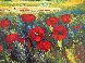 Tuscan Countryside With Poppies 2000 32x36 Original Painting by  Madjid - 2