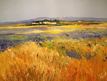 Le Plateau Valpusok  47x37 Original Painting - Louis Magre