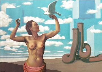 Une Jeune Femme Presente Avec Grace 1968 Limited Edition Print - Rene Magritte