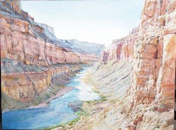 View  From Nankoweap 2004 18x24 Original Painting - Merrill Mahaffey