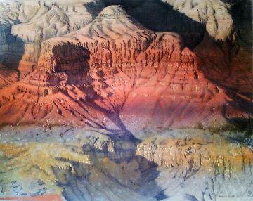 Grand Canyon 1982 58x46 Huge  Original Painting - Merrill Mahaffey