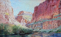 Marble Canyon 41x61 Super Huge!  Original Painting by Merrill Mahaffey - 0