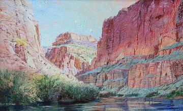 Marble Canyon 41x61 Huge!  Original Painting - Merrill Mahaffey