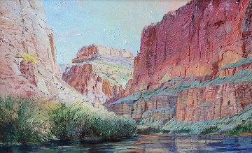 Marble Canyon 41x61 Original Painting by Merrill Mahaffey