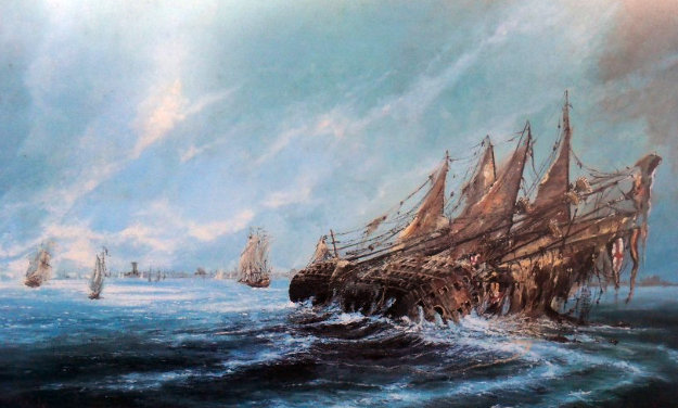 Sinking of Mary Rose Limited Edition Print by Ben Maile