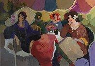 Bon Jour 2007 43x59 Super Huge Original Painting by Isaac Maimon - 1
