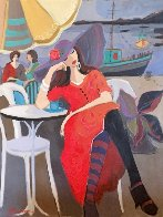 By the Riverside 2001 30x40 Huge Original Painting by Isaac Maimon - 0