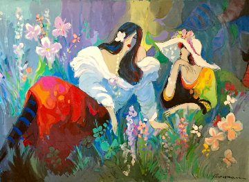 Central Park 1991 57x79 New York Super Huge Original Painting - Isaac Maimon