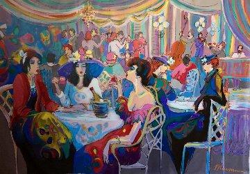 Enchanted 1993 55x79 Original Painting - Isaac Maimon
