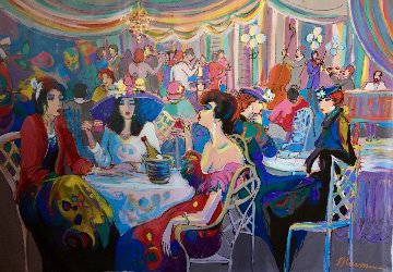 Enchanted 1993 55x79 Super Huge Original Painting - Isaac Maimon