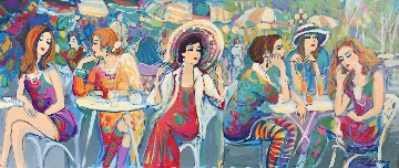 Rumour Has It... 2000 24x48 Original Painting by Isaac Maimon