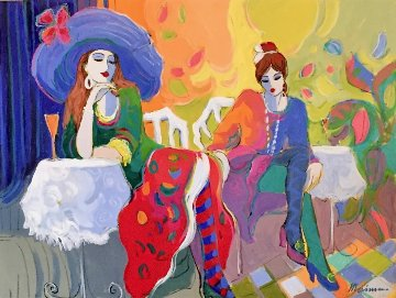 Le Brasserie 30x40 Huge Original Painting - Isaac Maimon