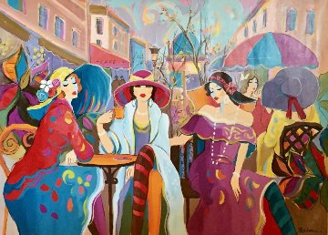 Le Bijoux 2002 53x73 Super Huge Original Painting - Isaac Maimon