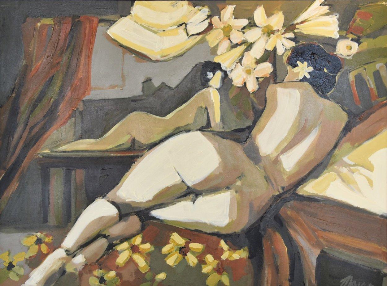 Villa Studio 52x42 Huge  Original Painting by Isaac Maimon