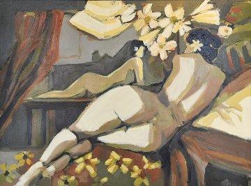Villa Studio 52x42 Original Painting - Isaac Maimon
