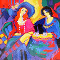 Midnight Cafe  Original Painting - Isaac Maimon