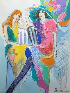 Spring Hat 1994 41x33 Original Painting by Isaac Maimon