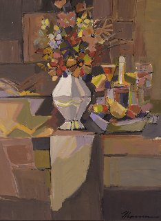 Autumn Bouquet 2018 52x42 Huge Original Painting - Isaac Maimon