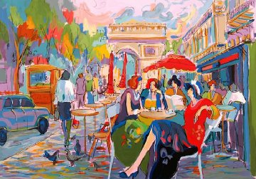 Bus Stop Cafe 1998 Limited Edition Print by Isaac Maimon