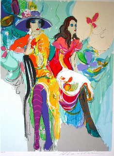 Les Coquettes I 1985 Limited Edition Print by Isaac Maimon