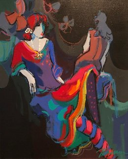 Brigitte And Noelle Suite of 2 1991 29x25 Original Painting by Isaac Maimon