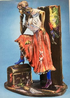 Gypsy Bronze Sculpture 1993 20 in  Sculpture - Isaac Maimon