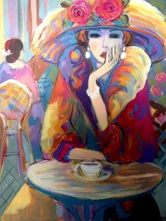 Vivian 2002 41x33 Original Painting - Isaac Maimon