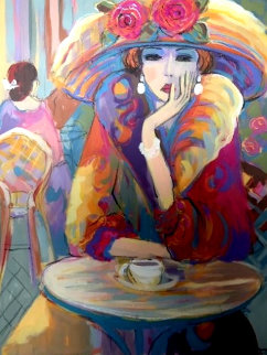 Vivian 2002 41x33 Super Huge  Original Painting - Isaac Maimon
