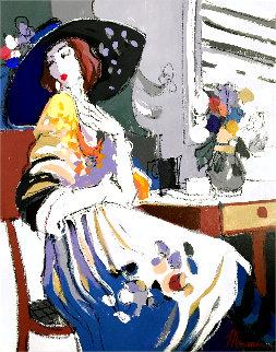 Mai 577 1996 36x30 Original Painting - Isaac Maimon