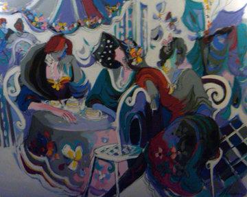 Papillion 60x80 Huge Original Painting - Isaac Maimon