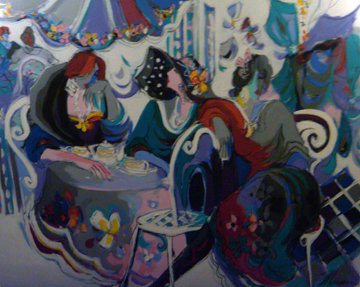 Papillion 60x80 Super Huge Original Painting - Isaac Maimon
