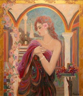 Untitled Painting 40x36 Original Painting by Isaac Maimon