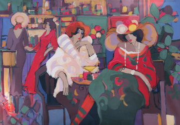 Elegance 2006 36x50 Super Huge  Original Painting - Isaac Maimon