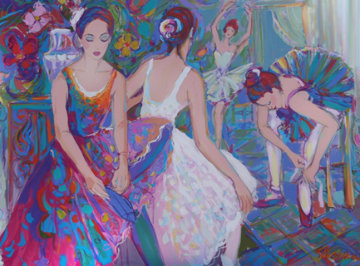 Cours De Dance 36x48 Original Painting - Isaac Maimon